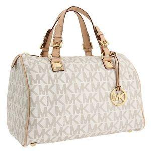 Michael Kors large vanilla Grayson purse